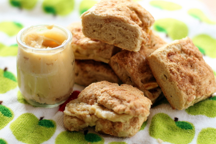 Maple Apple Biscuits with Whipped Maple Butter