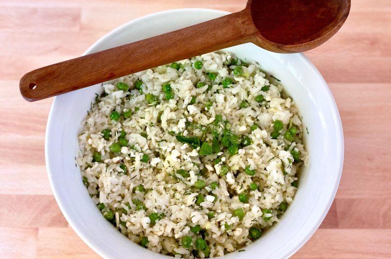 Rice, Pea and Feta Salad