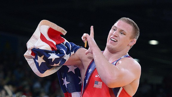 Jake Varner won gold in the 2012 Olympics for his wrestling prowess. (image from espn.com)