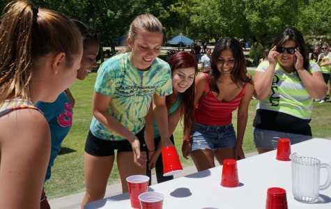 Phi Sigma Sigma sorority members engage in Greek Week activities on Wednesday, May 22. (Ryan Barrera/The Runner).