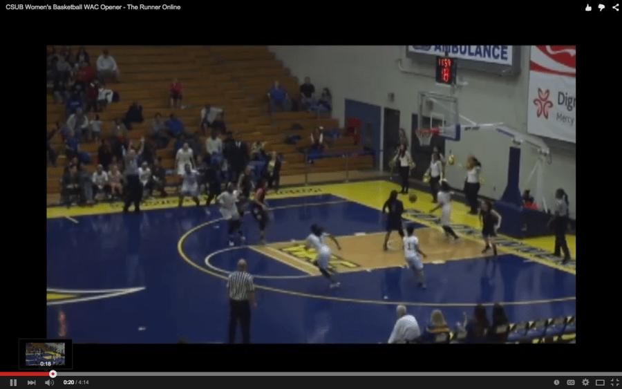 CSUB Women's Basketball win WAC opener