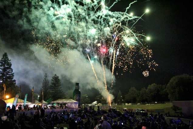 Fireworks illuminated the night on May 9 at the 29th Annual Jazz Festival, which was held at the CSUB amphitheater.
