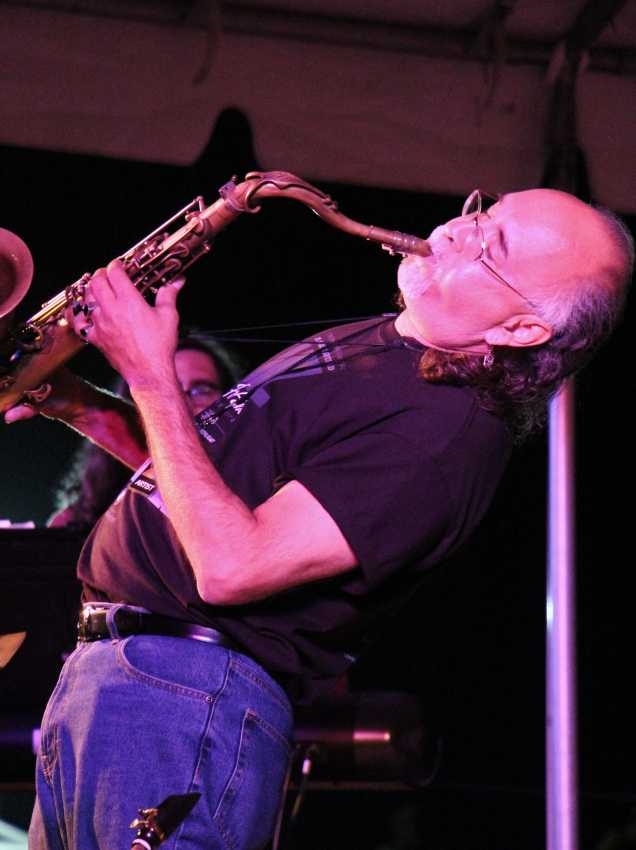 Paul Perez, Sax soloist, performed with Unkle Funkle at the 29th Annual Bakersfield Jazz Festival on May 8 and May 9. The event was held at the CSUB Amphitheater. Marisel Maldonado/ The Runner