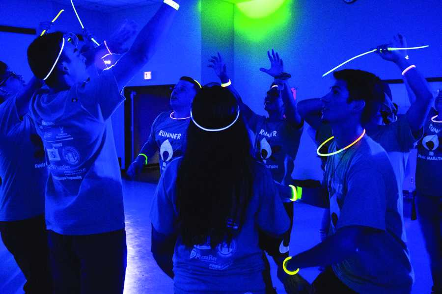 CSUB students dancing Friday night to raise money for local hospital.