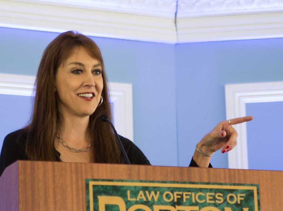 Political commentator Stephanie Miller spoke at the Bakersfield Business Conference to a crowd of over 100. Miller's liberal speech grated against the beliefs of the largely conservative crowd. Ben Patton/ The Runner