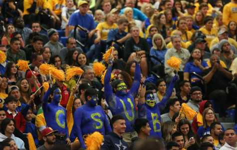 CSUB fans cheer on the Roadrunners against the Fresno State Bulldogs Tuesday, Nov. 22. Photo by AJ Alvarado/The Runner