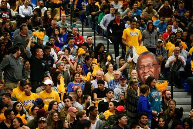 CSUB had 3,497 people in attendance at the Fresno State game Tuesday, Nov. 22 in the Icardo Center. Photo by AJ Alvarado/The Runner
