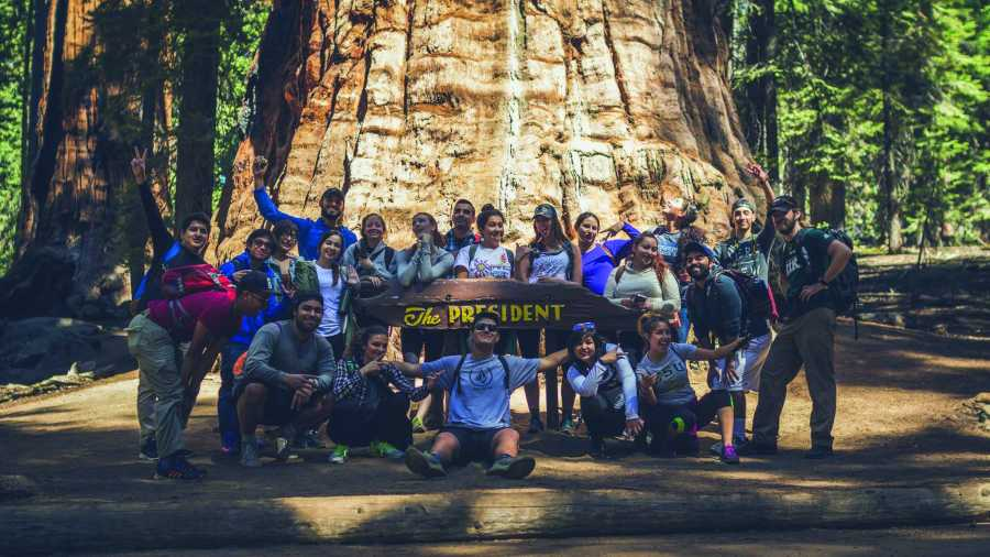 CSUB student participants take part in the Outdoor Adventure trip to Sequioa National Park in fall 2016.  Photo courtesy of SRC