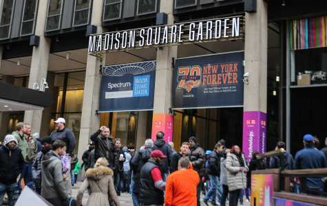 Dozens file into Madison Square Garden for an NCAA tournament game on Sunday, March 26. CSUB will play Georgia Tech in the National Invitation Tournament semifinals in the Garden Tuesday, March 28. Photo by AJ Alvarado/The Runner