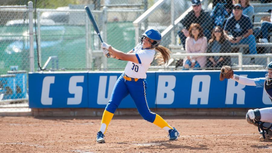 Julea Cavazos swings against Grand Canyon University on Friday, March 30 at the Roadrunner Softball Complex.