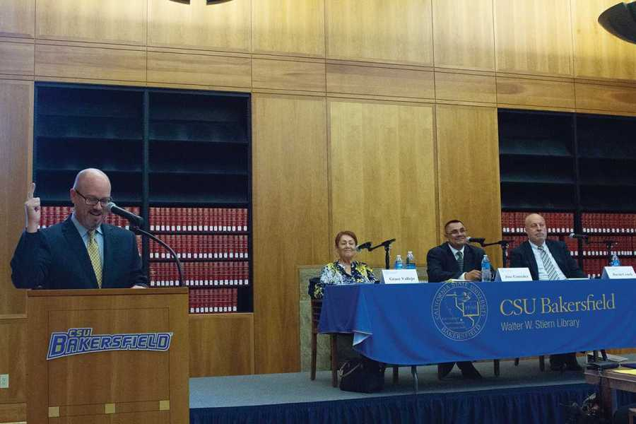 Candidates for county supervisor debate in Walter Stiern Library