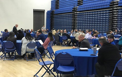 Attendees of the strategic plan forum give feedback on the first draft on March 8, 2019.