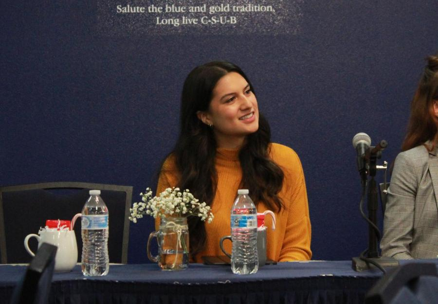 CSUB medical student Nakisa Kiai before the start of the Women, Religion, and Empowerment panel hosted by Dr. Jonathan Young with Common Grounds Club on Thursday, Nov. 21.