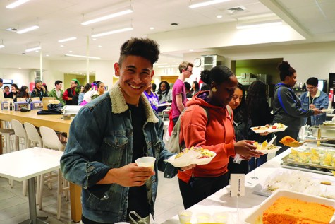 David Hull, a student at CSUB, was one of many students who attended International Food and Culture show. In the event, students had the opportunity to taste foods from around the world prepared by international faculty, staff and students at Runner Café on Nov. 20, 2019.