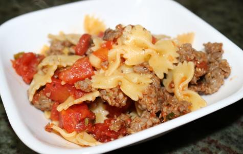 The ingredients come together to make a flavorful dish that can be reheated later.