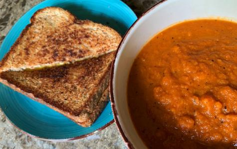 Runner recipes: Easy vegan roasted carrot and tomato soup with grilled cheese