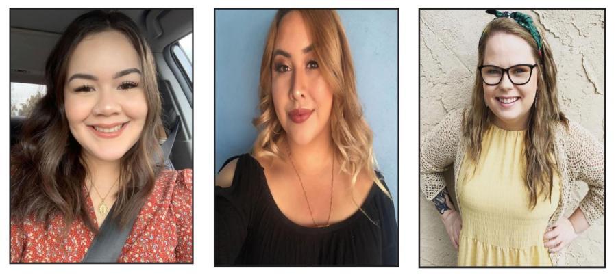 Provided photos from CSUB 2020 graduates, from left to right: Maya Rodriguez, Diana Padilla, and Kayla Meyer.