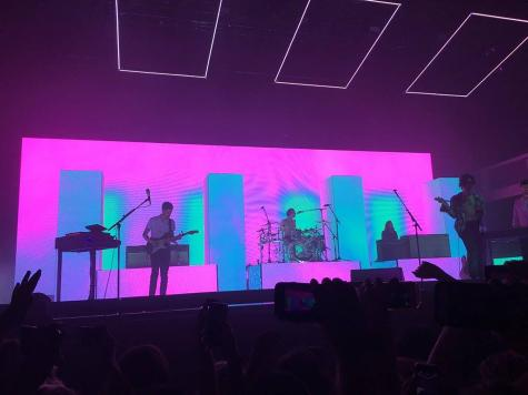 The 1975 performing at The Shrine in Los Angeles circa 2016.