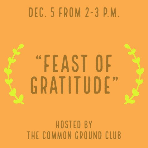 "Preview: Common Ground Club to host ""Feast of Gratitude"" Zoom event"