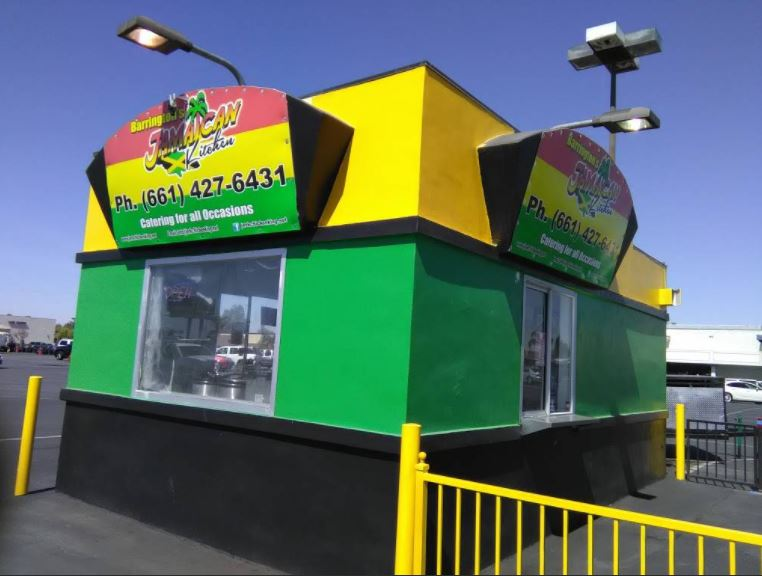 Front view of Barrington's Jamaican Kitchen at 4120 Ming Ave. Bakersfield, CA. Photo provided by Barrington's Jamaican Kitchen.