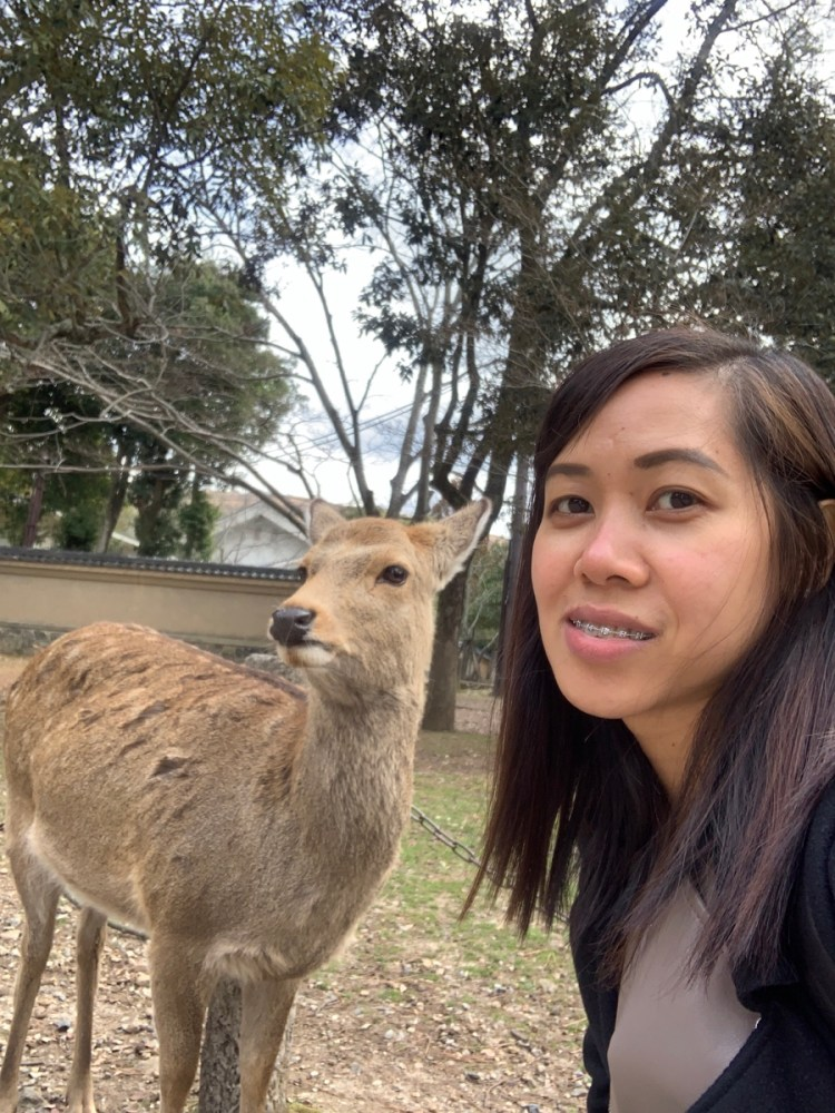 about me and a deer in Japan