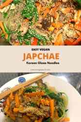Vegan Japchae Korean glass noodles image