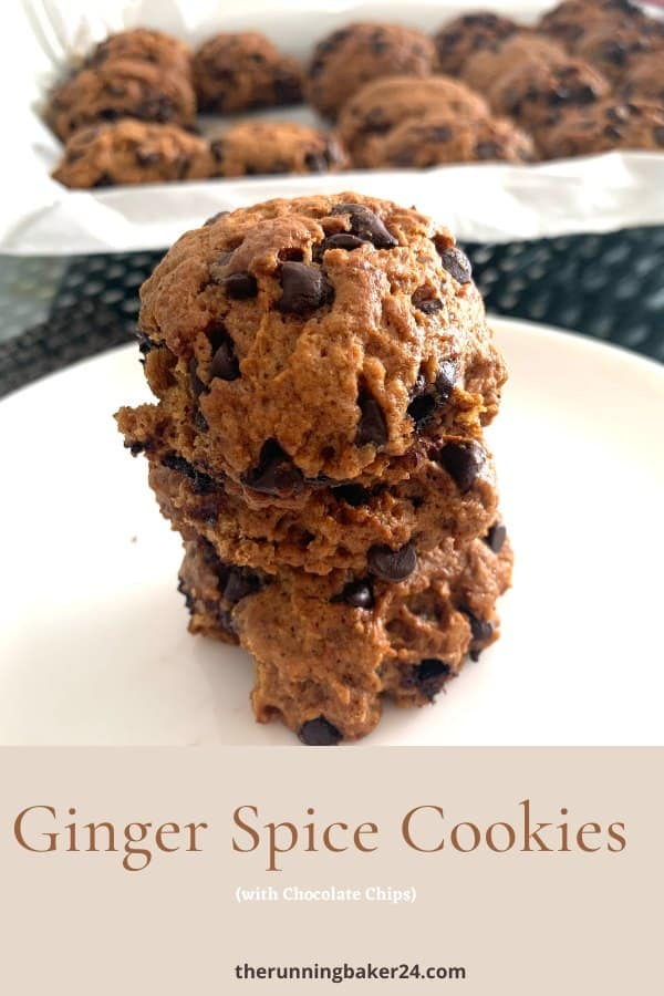 image of vegan ginger spice cookies in a white plate