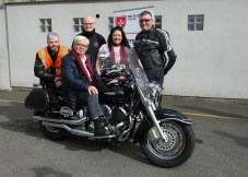 Pictured At The Run Of The Country Charity Motorbike Tour Launch At Malta Services David Clarke ,Michael Mc Cormick , Nicola Kears Malta services , Jimmy Kennedy and Harry Mc Ardle Height For Hire Pic Jimmy Weldon