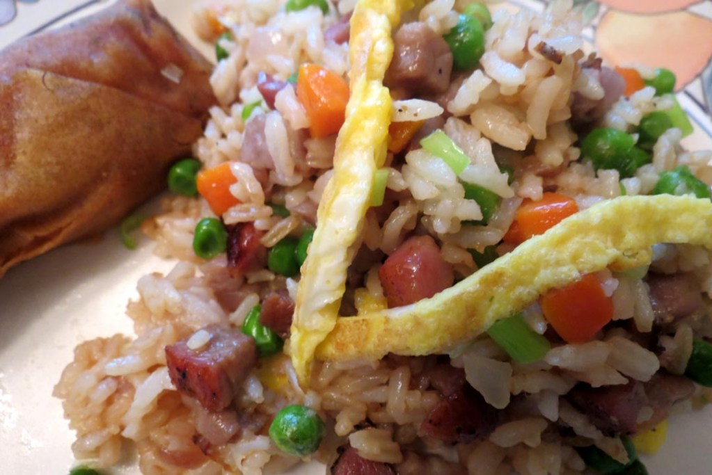 Fried rice and spring roll