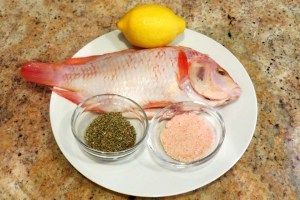 Ingridients for the whole fish