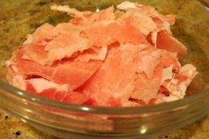 Thin sliced pork
