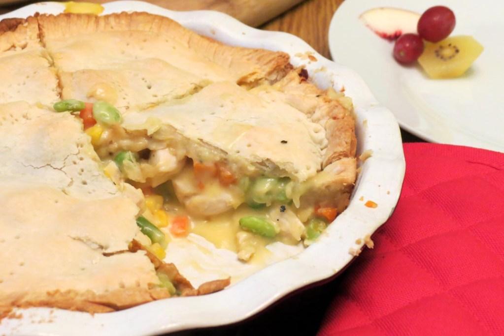 serving pie