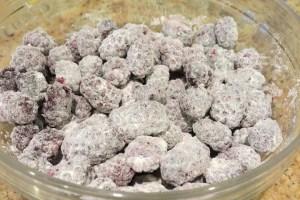 coated berries
