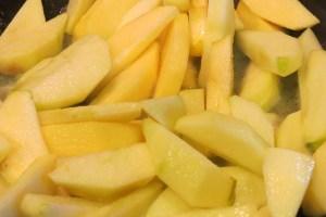 frying apples