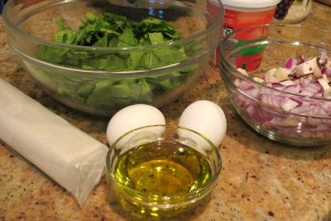 ingredients for phyllo pie