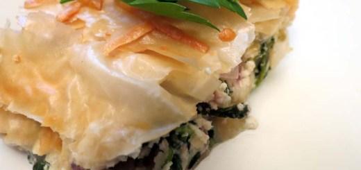 spinach pie slice