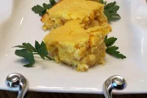 served corn souffle