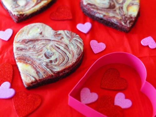 brownies hearts