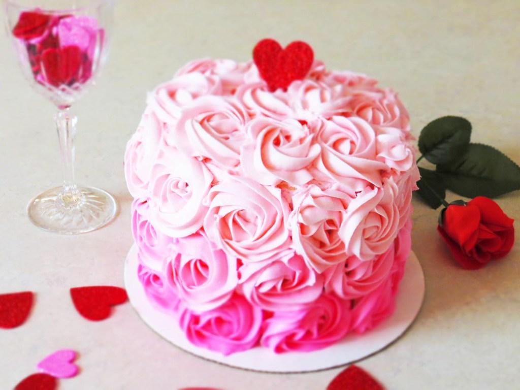 cake-and-rose