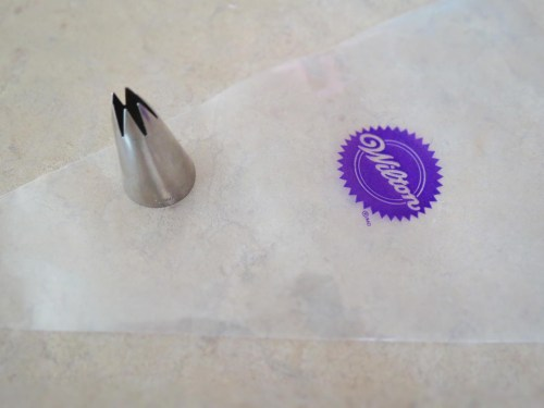 icing decorating tip with bag