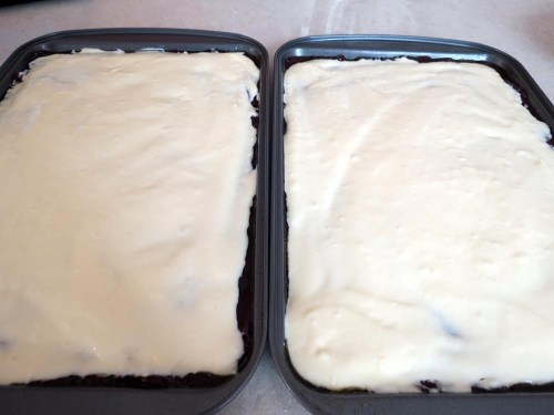 second layer with cream cheese