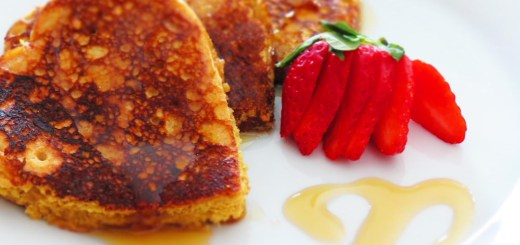 quinoa pancakes and strawberry