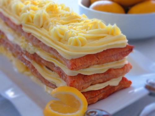 lemon napolen cake