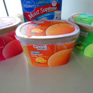 ingredients for sorbet cake