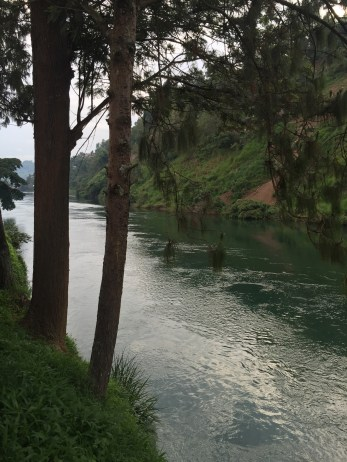 Muhire showed us the river that separates DRC and Rwanda.
