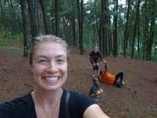 Our host brother, Goeffry, showed Kristy and me his favorite place - a forest that looks like one in the U.S.! (His little brother tagged along for the trip.)