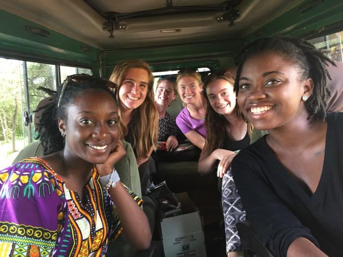 The YAGM Rwanda Team after Akagera: Shemiah, Me, Mary, Kristy, Kelly, Linda