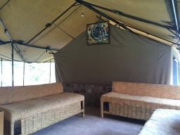 Devotions under the tent