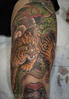 oneshot tiger/dragon on john, 2014. the ageless battle.