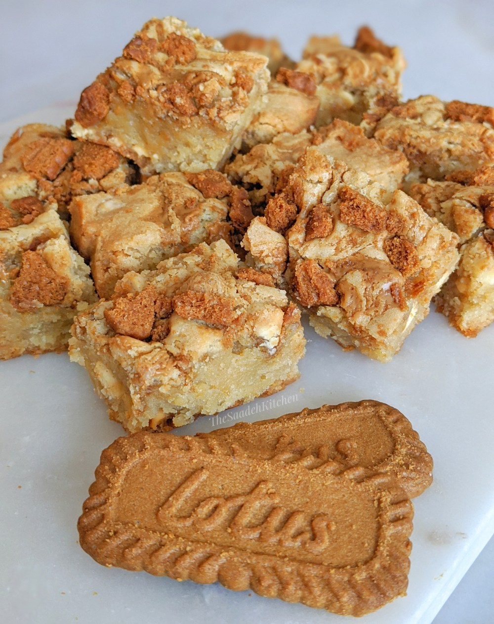 Lotus Biscoff Blondies